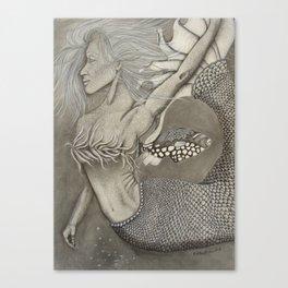 Nibiinaabe (mermaid) Canvas Print