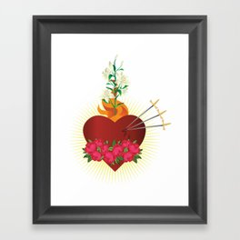 Immaculate Heart of Mary Framed Art Print