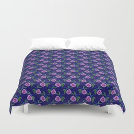 Peony Floral Floating Pattern Duvet Cover
