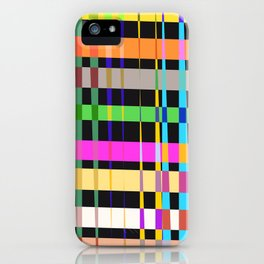 inclined coloured stripes iPhone Case