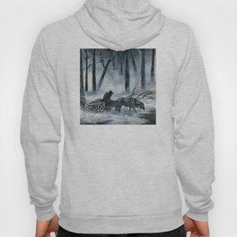 Grim Reaper with Horse in the Woods Hoody
