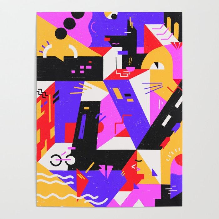 Multi-dimensional city Poster