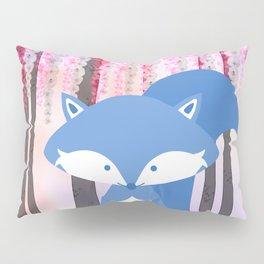 Cute Nursery Fox Flowers Design Pillow Sham