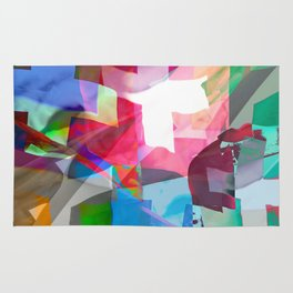 swissflag collage colorful Rug