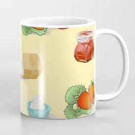 food design strawberry bread cream jam Coffee Mug