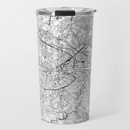 Dublin White Map Travel Mug