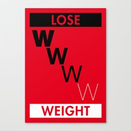 Illustrated new year wishes: #7 LOSE WEIGHT Canvas Print
