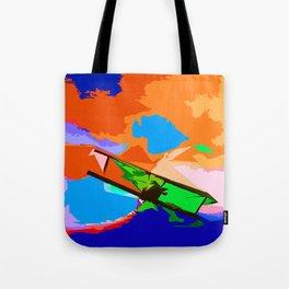Biplane Aerobatics Tote Bag