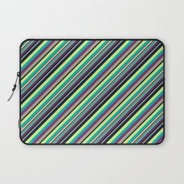 Summer Flowers Inclined Stripes Laptop Sleeve