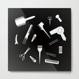 Hairdressing Tools Metal Print