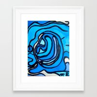 shell Framed Art Prints featuring Shell by Abstract Jack95