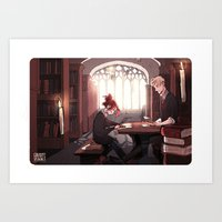 library Art Prints featuring Library by Galaxyspeaking