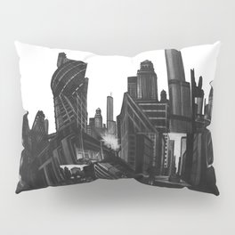 Longing in the City, charcoal on illustration board Pillow Sham