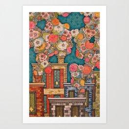 Chimney Fields Art Print