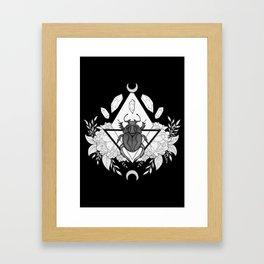 Scarab Queen // Black & White Framed Art Print