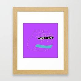 Super Rare Pepe The Frog!  Framed Art Print