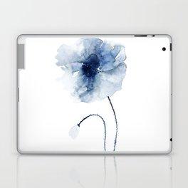 Blue Watercolor Poppies #2 Laptop & iPad Skin