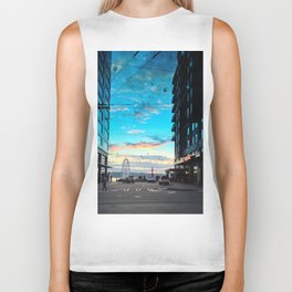 Seattle Summer Sunset Biker Tank