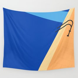 Swimming Pool with Blue Water Wall Tapestry