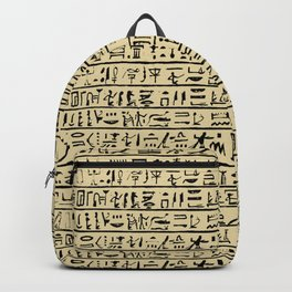 Egyptian Hieroglyphics // Tan Backpack