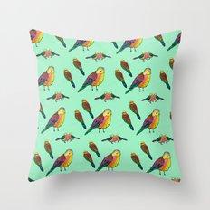 Rainbow birds Throw Pillow