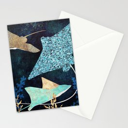 Metallic Stingray II Stationery Cards