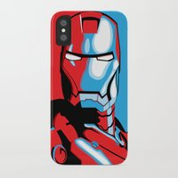 iron man iPhone & iPod Cases featuring Iron Man by C.Rhodes Design