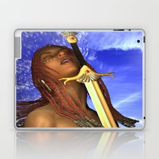 sword face girl Laptop & iPad Skin