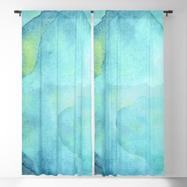 Abstract Blue Ocean Waves  Blackout Curtain