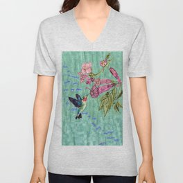 The Bittersweet Nectar of the Here and Now Unisex V-Neck