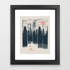 A Fox in the Wild... Framed Art Print