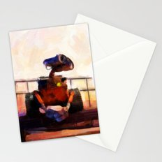 Wall-E & Eve - Painting Style Stationery Cards