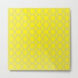 Yellow Quatrefoil Pattern Metal Print
