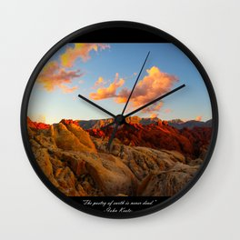 Poetry of Earth Wall Clock