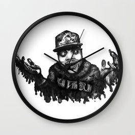 Chance the Rapper Lithograph Wall Clock