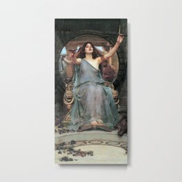 John William Waterhouse - Circe Offering the Cup to Ulysses Metal Print