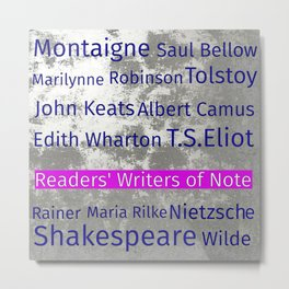The Reader's Writers of Note Metal Print
