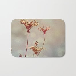 Soft Queen Anne's Lace and Bokeh Bath Mat