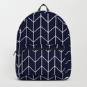 Chevron pattern -  white on dark blue by simplicity_of_live