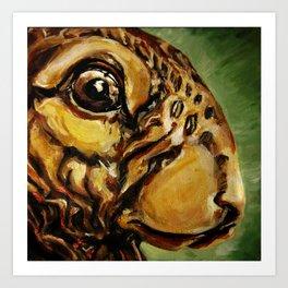 fat rabbit Art Print
