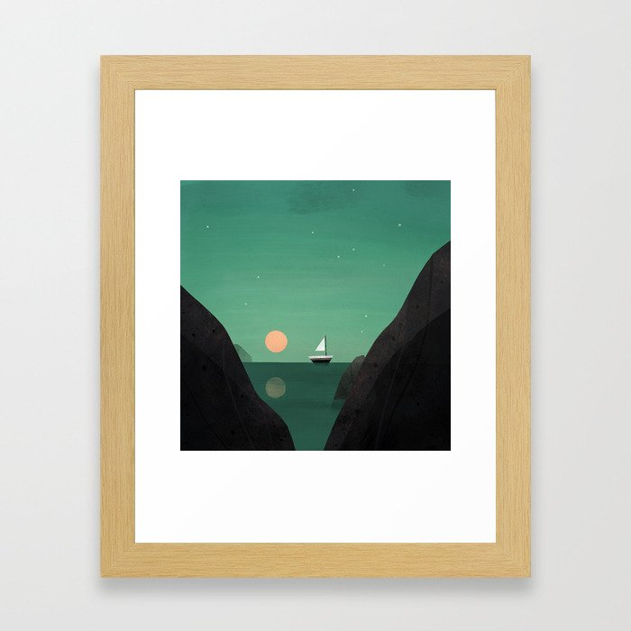 Ship at Dawn Framed Art Print