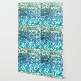 Seafoam Aqua Ocean MERMAID Girls Glitter #4 #shiny #decor #art #society6 Wallpaper