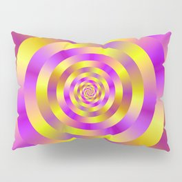 Yellow and Pink Spiral Rings Pillow Sham