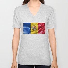 Moldova Flag Unisex V-Neck