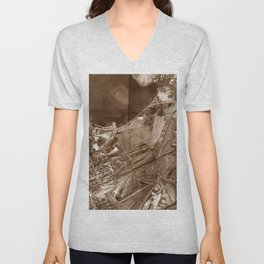 The Valley of Ashes - The Great Gatsby Unisex V-Neck