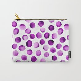 Watercolor Dots // Orchid Violet Carry-All Pouch