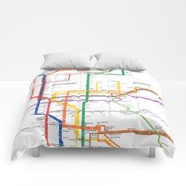 New York City subway map Comforters