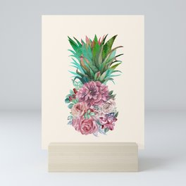 Floral Pineapple Mini Art Print