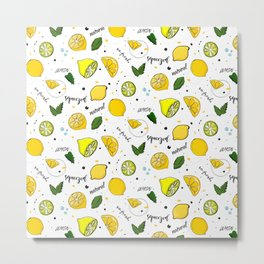 Lemon mix Metal Print
