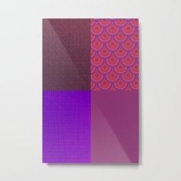 Abstract Mix Metal Print